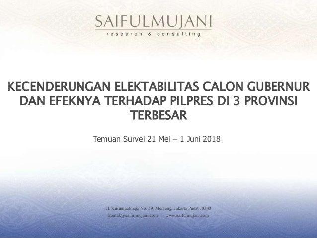 Jl. Kusumaatmaja No. 59, Menteng, Jakarta Pusat 10340 kontak@saifulmujani.com | www.saifulmujani.com KECENDERUNGAN ELEKTAB...