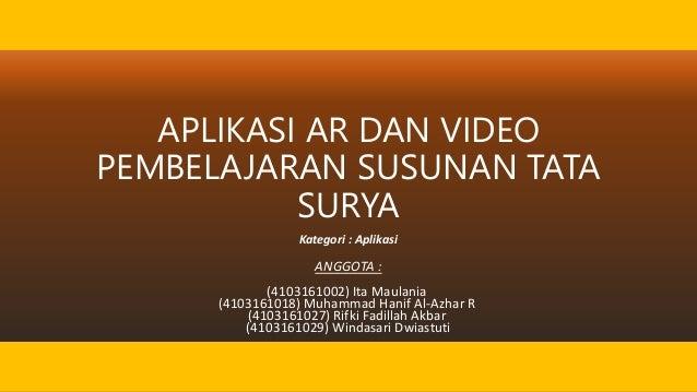 Revisi Aplikasi Ar Dan Video Pembelajaran Susunan Tata Surya