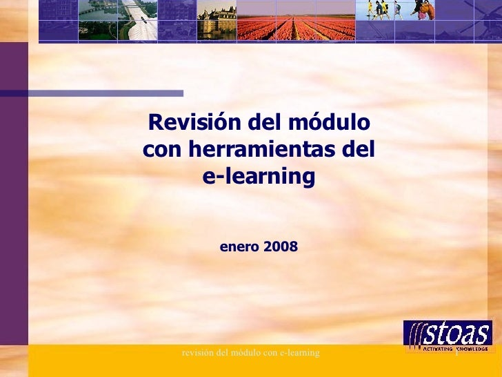 Revisión del módulo con herramientas del e-learning enero 2008