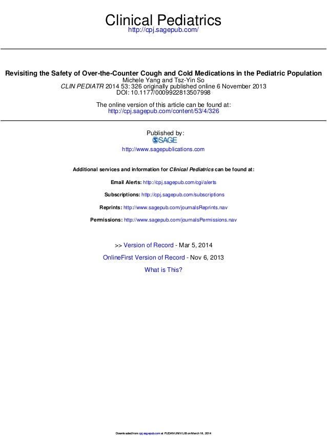 http://cpj.sagepub.com/ Clinical Pediatrics http://cpj.sagepub.com/content/53/4/326 The online version of this article can...