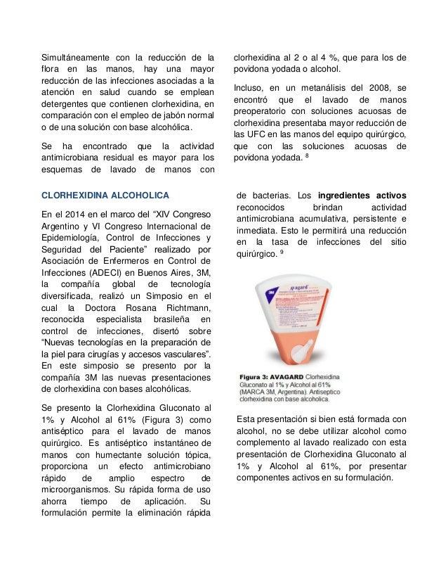 Clorhexidina concepto lavado de manos quir rgico y su - Alcohol de limpieza para que sirve ...