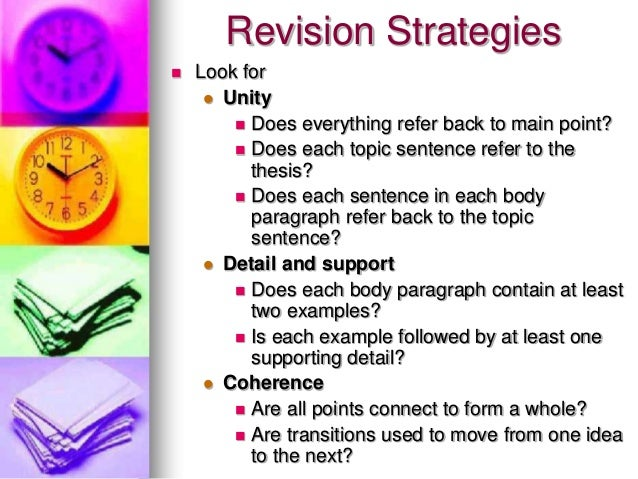 revising and editing an essay Planning questioning have you ever started an essay without a concrete topic did you have a topic but you didn't know what you wanted to say about it.