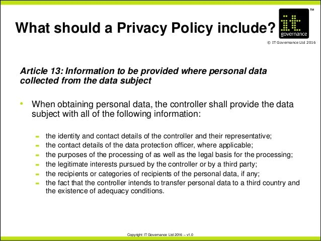 Revising policies and procedures under the new eu gdpr for Data privacy policy template
