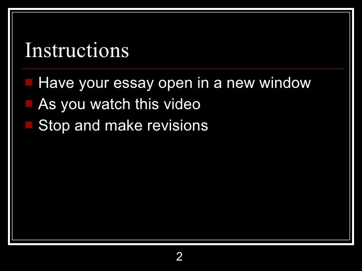 revising your own essay