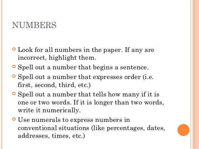 do you spell out numbers in research papers
