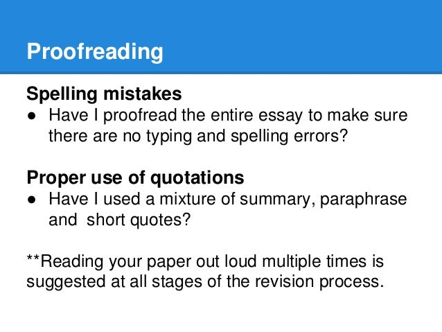 revising editing proofreading proofreading