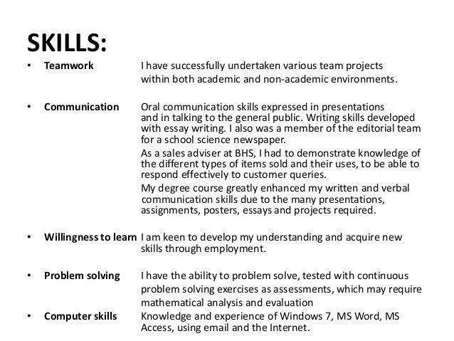 resume communication skills list