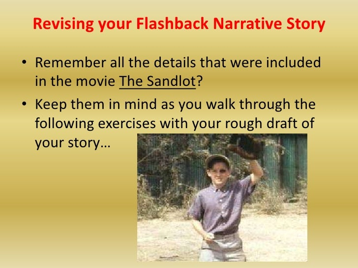 how to start a narrative about flashbacks
