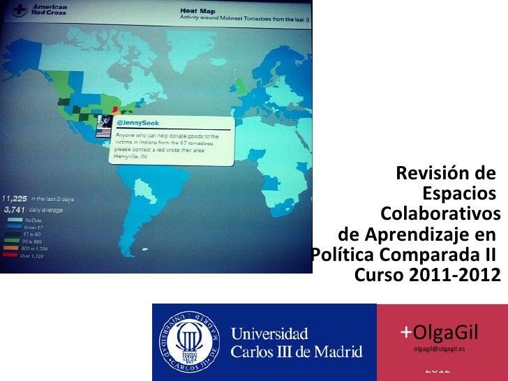 Revisión de             Espacios         Colaborativos   de Aprendizaje enPolítica Comparada II      Curso 2011-2012      ...