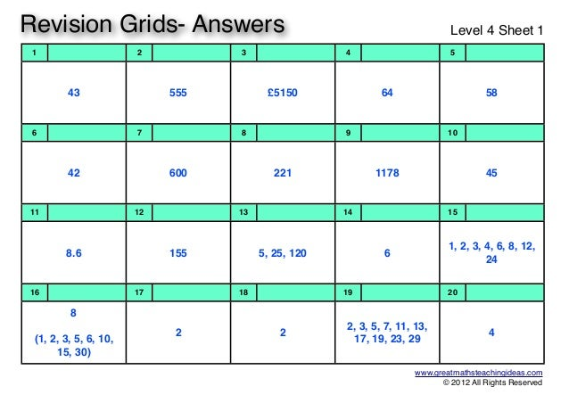 Revision grids-level-4