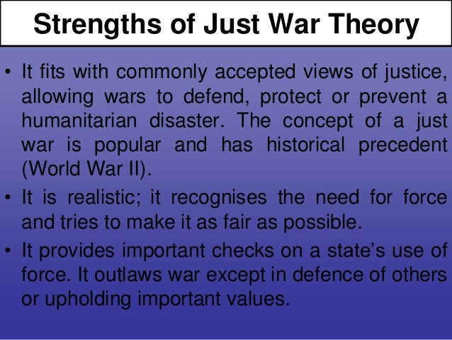 just war theory The just war theory forum is an open resource for everyone concerned with  issues of war, peace, justice, and reason an open invitation to web discussions  on.