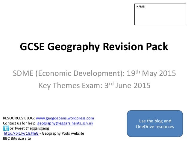 Revision Booklet 2015 Ocr B Geography