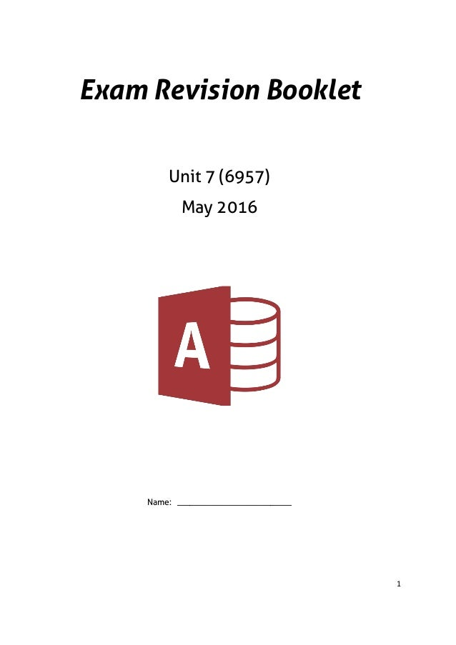 Revision booklet 6957 2016