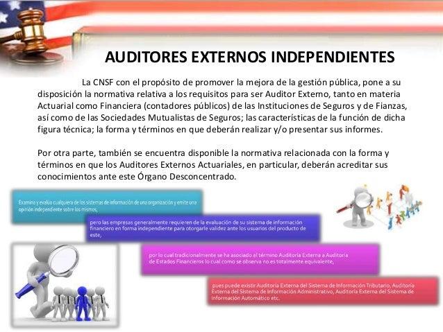 AUDITORES EXTERNOS INDEPENDIENTES Relación entre la Auditoría Externa