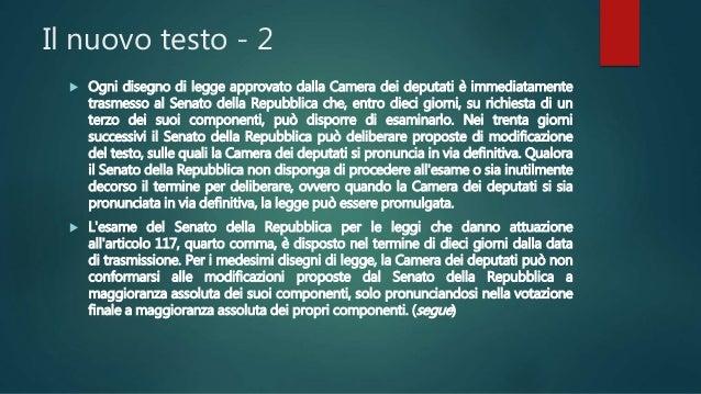 Revisione della costituzione for Camera dei deputati italiana
