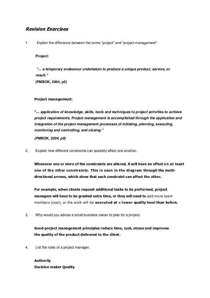 Revision Exercise Memorandum