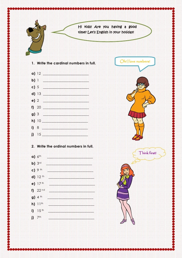 Hi kids! Are you having a good                              time? Let's English in your holiday!                          ...