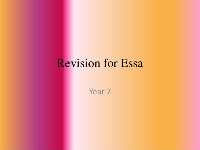 Revision for Essa      Year 7