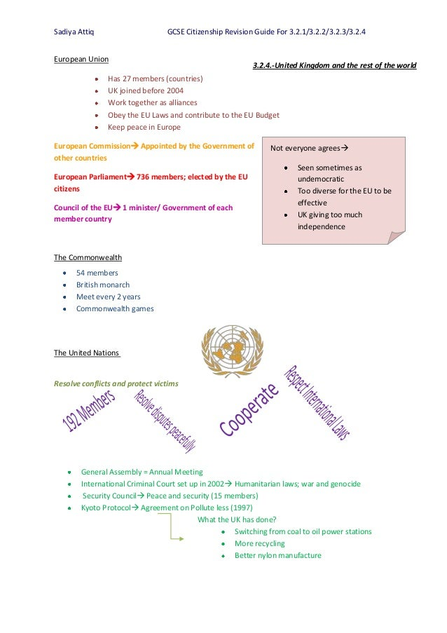 gcse citizenship coursework