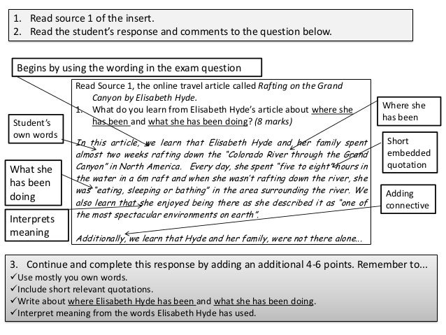english gcse essay questions