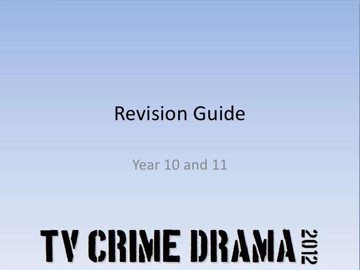 TV Crime Drama Revision Guide: Media Language