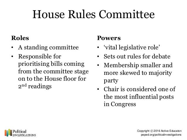 Marvelous House Rules Committee ...
