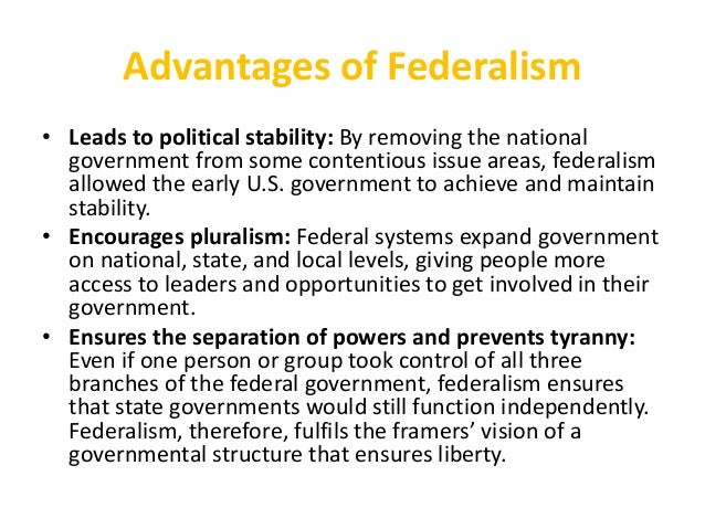 Revision Lesson - Federalism