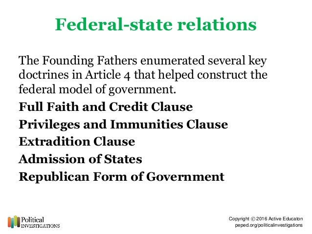 Revision lesson; federalism