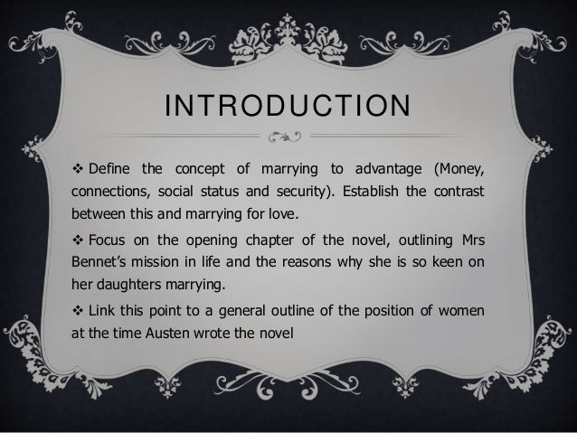 the concept of a good marriage in pride and prejudice essay Published: mon, 5 dec 2016 jane austen is known as one of britain's iconic writers from the nineteenth century, and is known for such works as emma, sense and sensibility, persuasion and of course pride and prejudice, which will be the subject of this essay.
