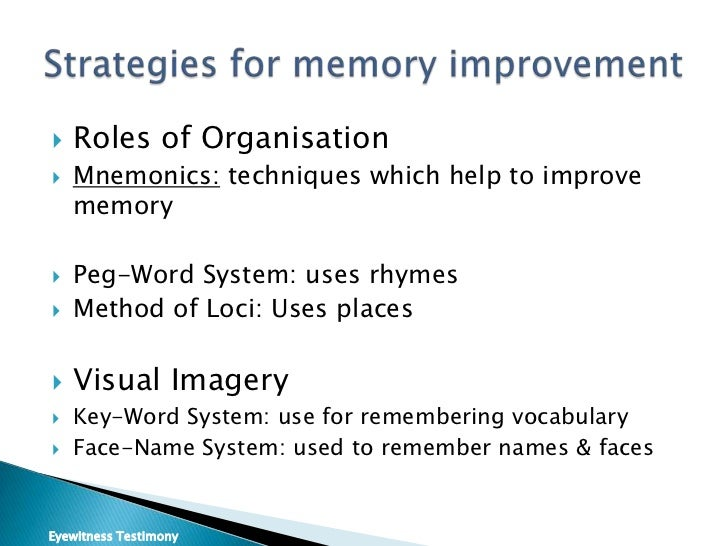 psychology memory coursework The questions in the psychology test are drawn from the core of knowledge most commonly encountered in courses offered at the  memory (7–9%) working memory.