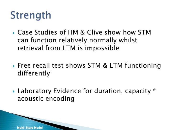 Stm duration capacity and encoding essay