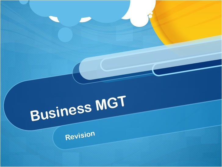 Business MGT Revision