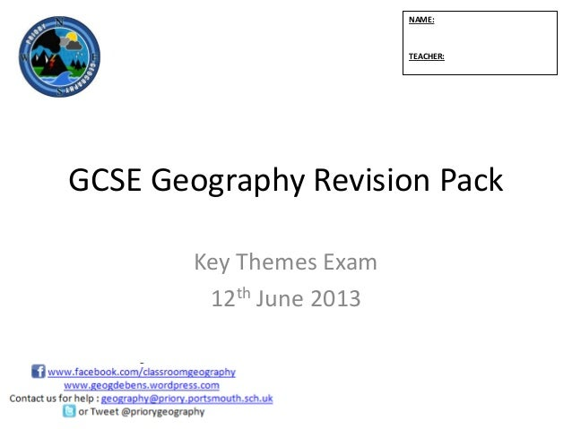 geography coursework 2012 Through the cambridge igcse geography syllabus, learners will develop a 'sense of place' by looking at the world around them on a local, regional and global scale.