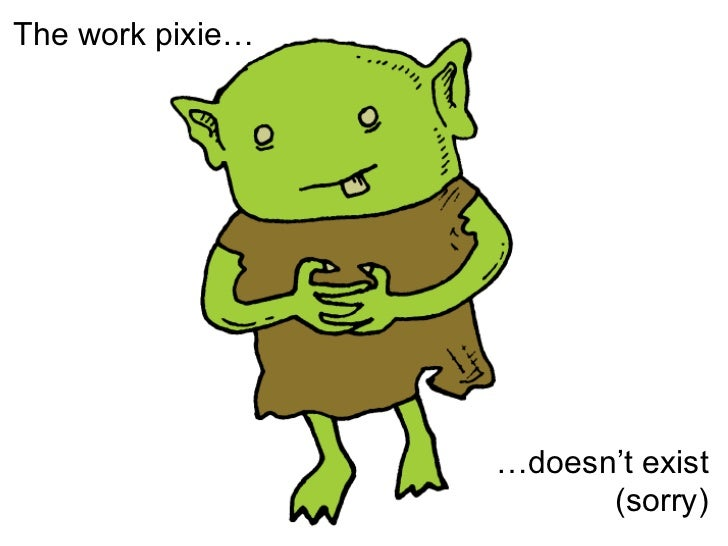 The work pixie… … doesn't exist (sorry)