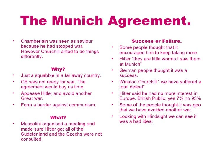 Munich Agreement Definition Of Munich Agreement By The Mandegarfo