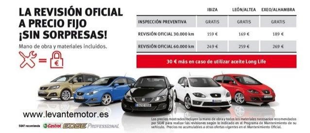 Revisión de coche barata en Valencia. Seat Levante Motor