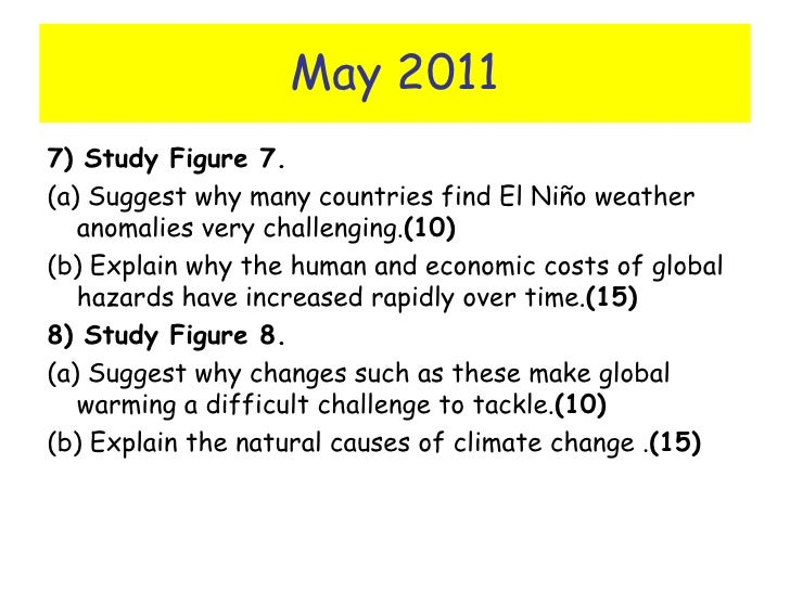 Suggest why many countries find el nioo weather anomalies very challenging essay