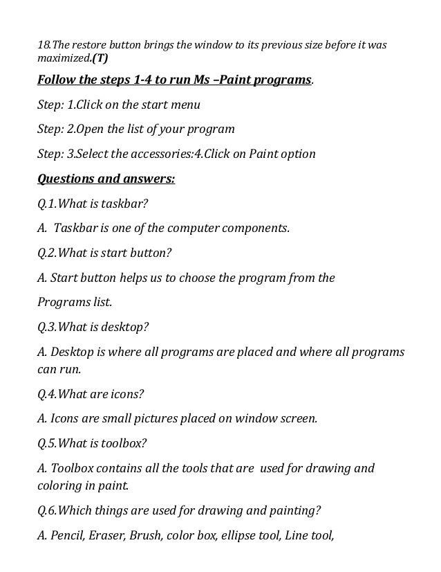 Revision sheet grade 1