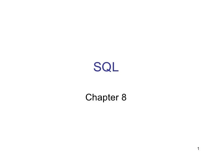 SQLChapter 8            1