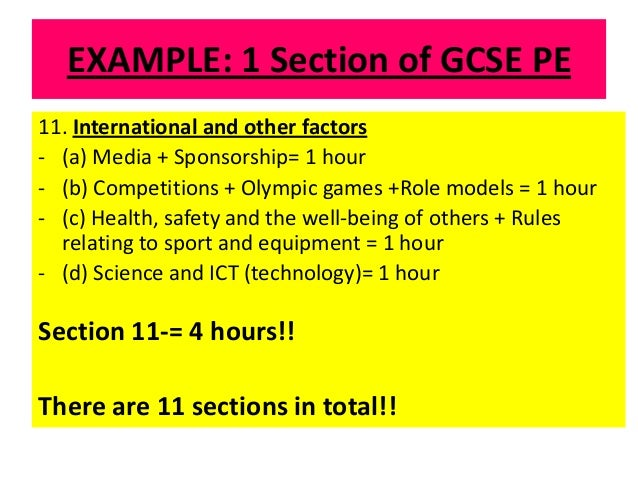 example revision timetable
