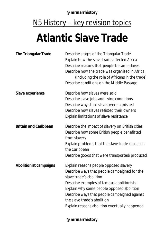 reasons for the abolition of the transatlantic slave trade