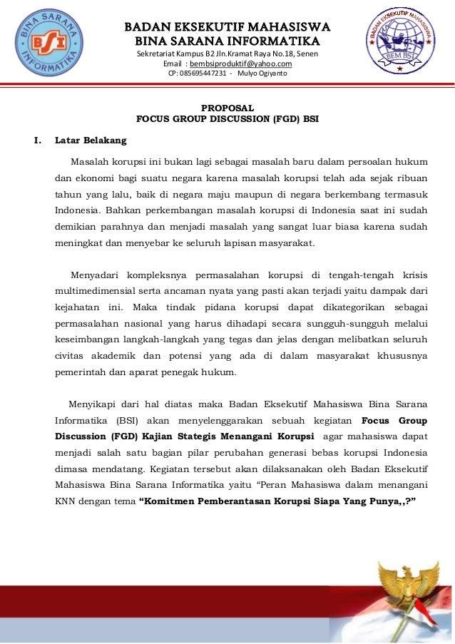 BADAN EKSEKUTIF MAHASISWA BINA SARANA INFORMATIKA SekretariatKampusB2Jln.KramatRayaNo.18,Senen Email:bembsiprod...