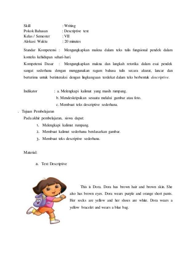 Contoh Rpp Writing Descriptive Text