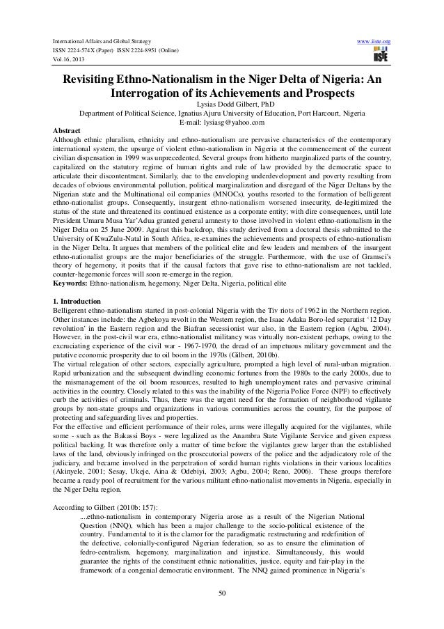 International Affairs and Global Strategy ISSN 2224-574X (Paper) ISSN 2224-8951 (Online) Vol.16, 2013  www.iiste.org  Revi...