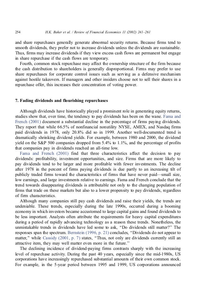 a study on dividend signaling theories finance essay The university of hong kong   to derive corporate finance theories : 3  and dividend process) and testing beta-pricing spreads.