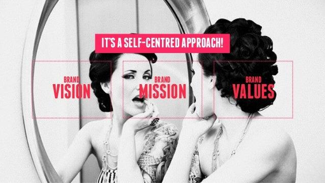 MISSION BRAND VISION BRAND VALUES BRAND IT'SASELF-CENTREDAPPROACH!