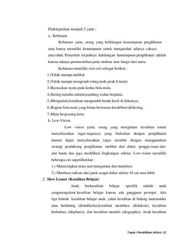 Revisi Tugas I Pend Inklusi Sekolah Inklusi