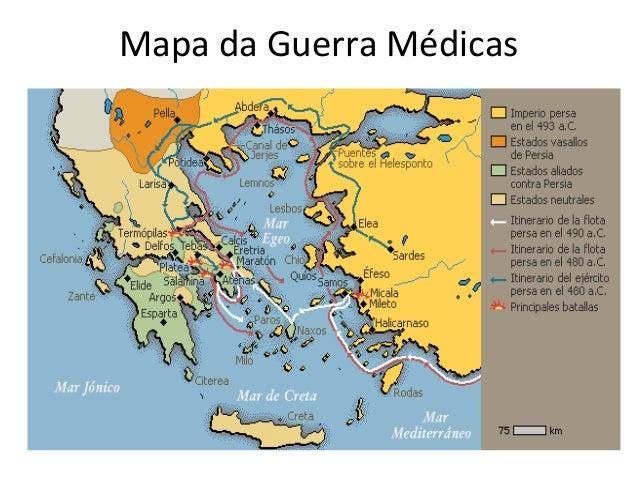 Mapa da Guerra Médicas