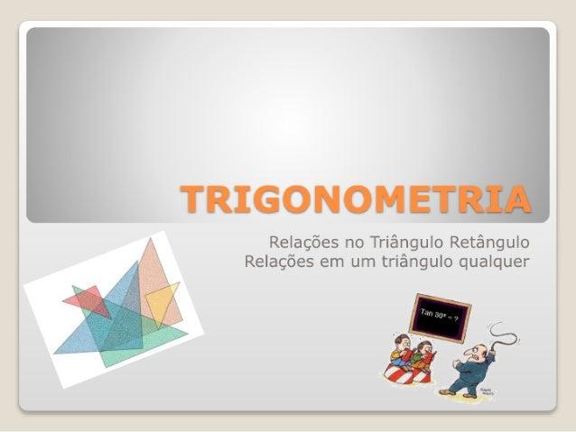 Revisão de trigonometria