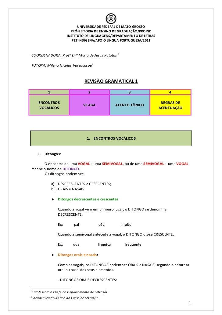 Revisão gramatical 1